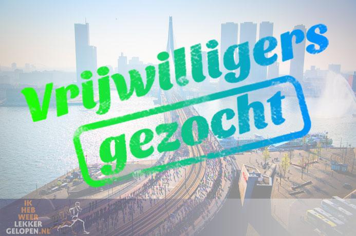 Gezocht – Rotterdam marathon steunpunt organisatoren en vrijwilligers.